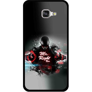 Snooky Printed Mr.Right Mobile Back Cover For Samsung Galaxy A3 (2016) - Multicolour