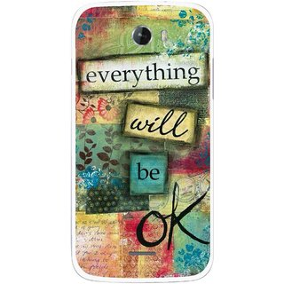Snooky Printed Will Ok Mobile Back Cover For Micromax Bolt A068 - Multicolour