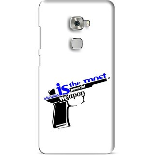 Snooky Printed Be Educated Mobile Back Cover For Huawei Mate S - Multi