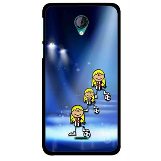 Snooky Printed Girls On Top Mobile Back Cover For Micromax Canvas Unite 2 - Multicolour