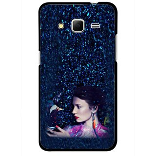 Snooky Printed Blue Lady Mobile Back Cover For Samsung Galaxy Core Prime - Multicolour