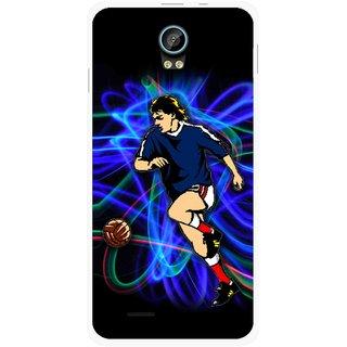 Snooky Printed Football Passion Mobile Back Cover For Intex Aqua Life 2 - Multicolour