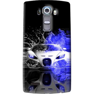 Snooky Printed Super Car Mobile Back Cover For Lg G4 - Multi
