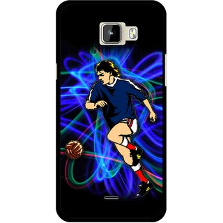 Snooky Printed Football Passion Mobile Back Cover For Micromax Canvas Nitro A310 - Multicolour
