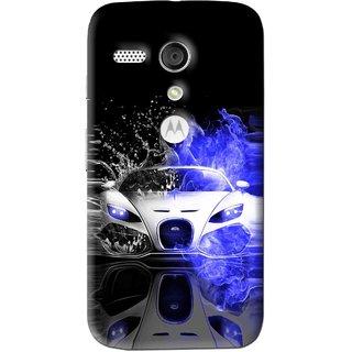Snooky Printed Super Car Mobile Back Cover For Moto G - Multi