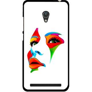 Snooky Printed Modern Girl Mobile Back Cover For Asus Zenfone Go ZC451TG - Multicolour