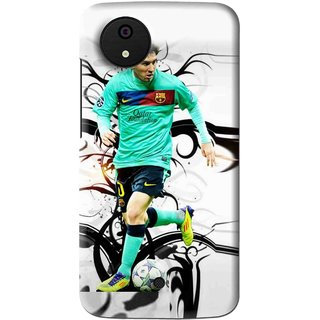Snooky Printed Football Champion Mobile Back Cover For Micromax Canvas Android One - Multi