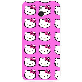 Snooky Printed Pink Kitty Mobile Back Cover For Infocus M2 - Multicolour