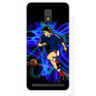 Snooky Printed Football Passion Mobile Back Cover For Lenovo A6600 - Multicolour