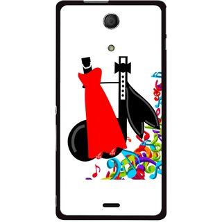 Snooky Printed Fashion Mobile Back Cover For Sony Xperia ZR - Multicolour