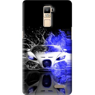 Snooky Printed Super Car Mobile Back Cover For Oppo R7 Plus - Multi