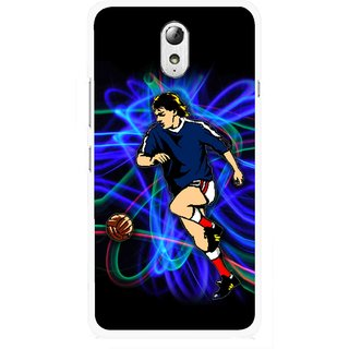 Snooky Printed Football Passion Mobile Back Cover For Lenovo Vibe P1M - Multicolour