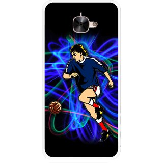 Snooky Printed Football Passion Mobile Back Cover For Letv Le 2 - Multicolour