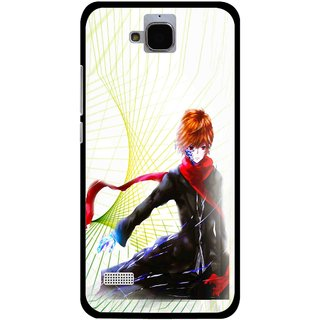 Snooky Printed Stylo Boy Mobile Back Cover For Huawei Honor Holly - Multicolour