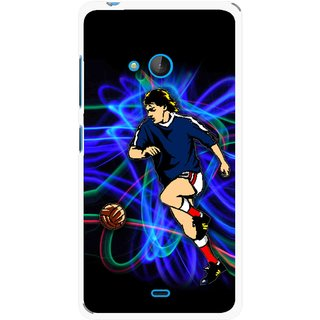 Snooky Printed Football Passion Mobile Back Cover For Nokia Lumia 540 - Multicolour