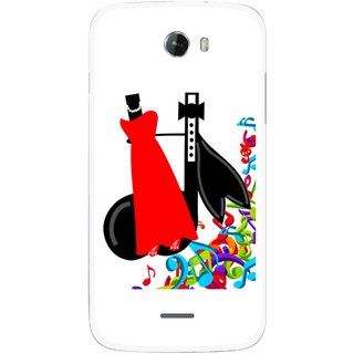 Snooky Printed Fashion Mobile Back Cover For Micromax Bolt A068 - Multicolour