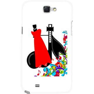 Snooky Printed Fashion Mobile Back Cover For Samsung Galaxy Note 2 - Multicolour