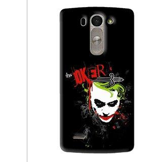 Snooky Printed The Joker Mobile Back Cover For Lg G3 Beat D722k - Multi