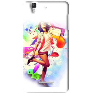 Snooky Printed Shopping Girl Mobile Back Cover For Micromax YU YUREKA - Multi