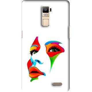 Snooky Printed Modern Girl Mobile Back Cover For Oppo R7 Plus - Multi