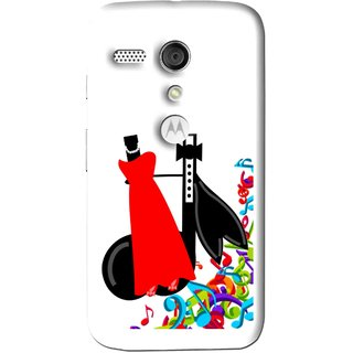 Snooky Printed Fashion Mobile Back Cover For Moto G - Multi