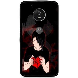 Snooky Printed Broken Heart Mobile Back Cover For Moto G5 Plus - Multi