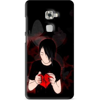 Snooky Printed Broken Heart Mobile Back Cover For Huawei Mate S - Multi