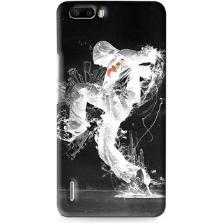 Snooky Printed Dance Mania Mobile Back Cover For Huawei Honor 6 Plus - Multi