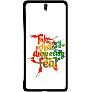 Snooky Printed Drop Fear Mobile Back Cover For Sony Xperia C5 - Multicolour