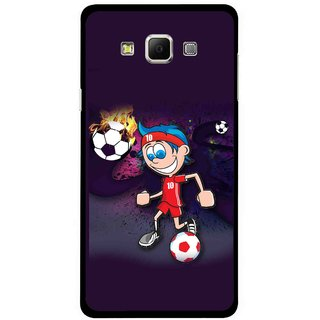 Snooky Printed My Game Mobile Back Cover For Samsung Galaxy E7 - Multicolour