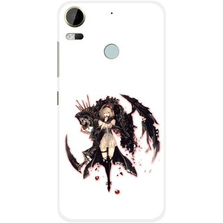 Snooky Printed Kungfu Girl Mobile Back Cover For HTC Desire 10 Pro - Multi