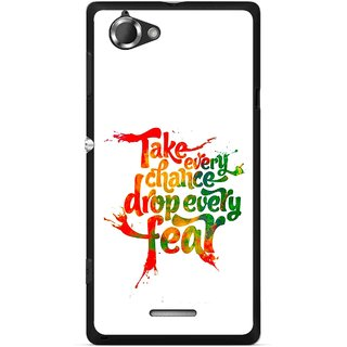 Snooky Printed Drop Fear Mobile Back Cover For Sony Xperia L - Multicolour