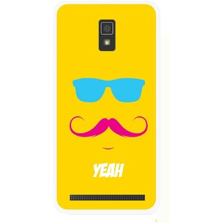 Snooky Printed Yeah Mobile Back Cover For Lenovo A6600 - Multicolour