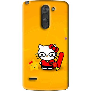 Snooky Printed Kitty Study Mobile Back Cover For Lg G3 Stylus - Multi