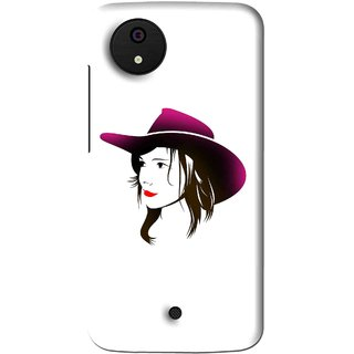 Snooky Printed Tom Boy Mobile Back Cover For Micromax Canvas Android One - Multi