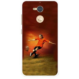 Snooky Printed Football Mania Mobile Back Cover For Gionee S6 Pro - Multi