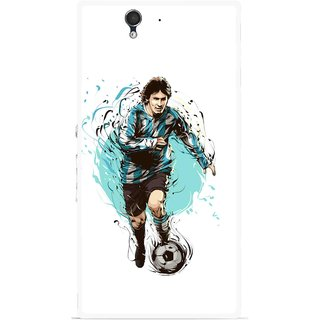 Snooky Printed Have To Win Mobile Back Cover For Sony Xperia Z - Multicolour