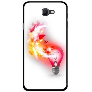 Snooky Printed Butterly Bulb Mobile Back Cover For Samsung Galaxy J5 Prime - Multicolour