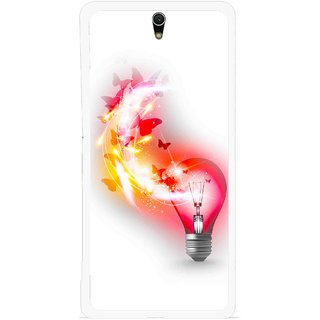 Snooky Printed Butterly Bulb Mobile Back Cover For Sony Xperia C5 - Multicolour