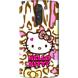 Snooky Printed Cute Kitty Mobile Back Cover For Lg G3 Stylus - Multi