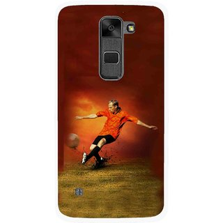 Snooky Printed Football Mania Mobile Back Cover For Lg Stylus 2 - Multi