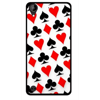Snooky Printed Playing Cards Mobile Back Cover For HTC Desire 630 - Multi