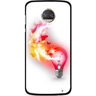 Snooky Printed Butterly Bulb Mobile Back Cover For Motorola Moto Z2 Play  - Multicolour
