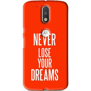 Snooky Printed Never Loose Mobile Back Cover For Moto G4 Plus - Multi