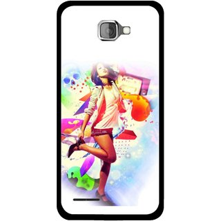 Snooky Printed Shopping Girl Mobile Back Cover For Micromax Canvas Mad A94 - Multicolour