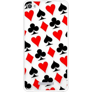 Snooky Printed Playing Cards Mobile Back Cover For Micromax Canvas Hue 2 - Multi