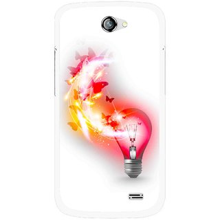 Snooky Printed Butterly Bulb Mobile Back Cover For Gionee Pioneer P2 - Multicolour