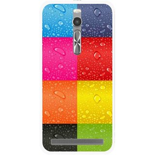Snooky Printed Water Droplets Mobile Back Cover For Asus Zenfone 2 - Multi
