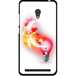 Snooky Printed Butterly Bulb Mobile Back Cover For Asus Zenfone Go ZC451TG - Multicolour