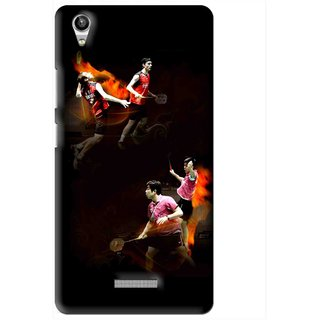 Snooky Printed Sports Player Mobile Back Cover For Lava Pixel V1 - Multi